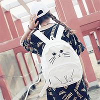 Городской рюкзак Белый кот