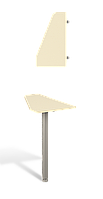 Стол приставной Прайм Р1.56.08