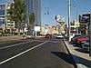 Скролл на бул. Леси Украинки на разделительной полосе, БЦ Парус