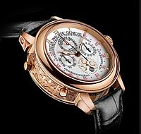 Часы  Patek Philippe Sky Moon Tourbillon Gold белые. ТОЧНАЯ копия! Элит качество!