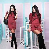 Женское модное трикотажное платье, фото 1