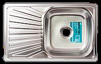 Мойка для кухни врезная прямоугольная 780 х 480x 175/180 IMPERIAL 0,8 матовая