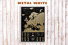 Скретч карта My Map Black Edition Europe в раме (англ. язык), фото 2