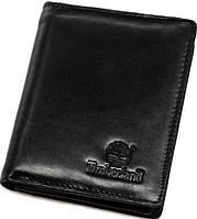 Строгое мужское кожаное портмоне TIMBERLAND TMD3004-1A, черный