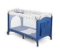 Детская кровать манеж Milly Mally Mirage Blue-White Польша