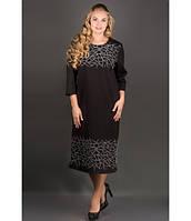 Женское черное платье большого размера Пиастра ТМ Olis-Style 54-60 размеры