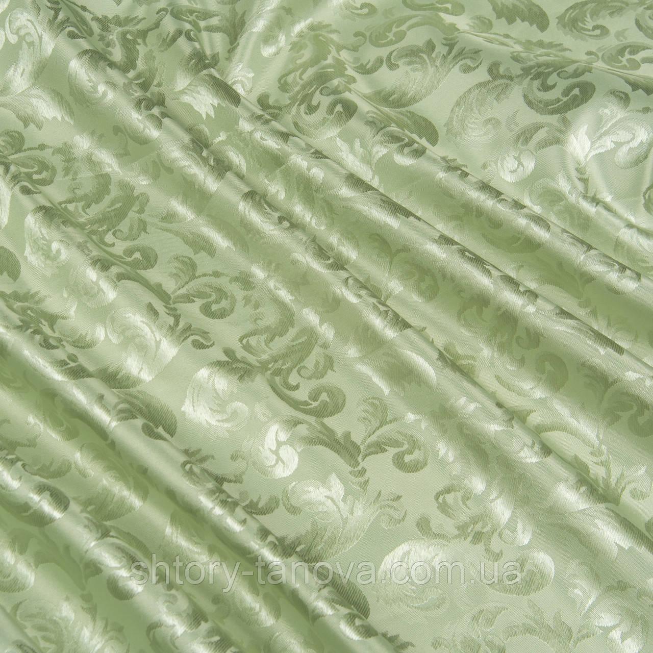 Жаккард алан вязь св. зеленый