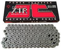 Мото цепь 520 110 звеньев JT JTC520X1R2NN110DL X-Ring для мотоцикла серебристая с двумя замками