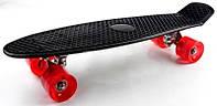 Скейт Penny Board Black Светящиеся колеса (до 70 кг)