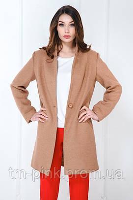 Пальто класичне на 1 гудзик беж