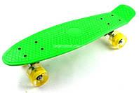 Скейт Penny Board Green Светящиеся колеса
