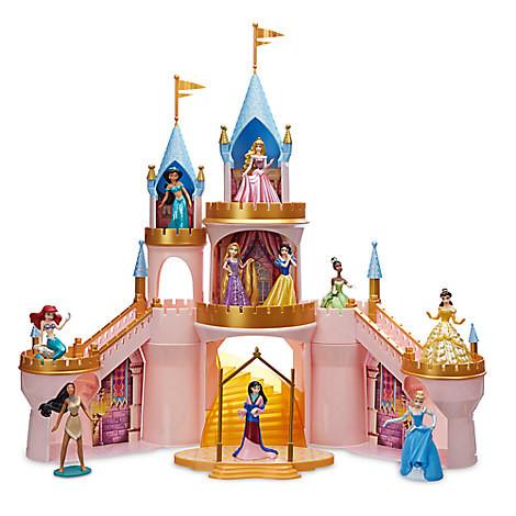 Светящийся замок с фигурками 10 принцесс ДИСНЕЙ / DISNEY
