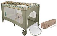 Детская кровать манеж Milly Mally Mirage grey bird Польша