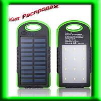 Солнечное портативное зарядное Power Bank 30000 + ФОНАРИК 12 ДИОДОВ