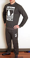 Мужской спортивный костюм Adidas серый 3081