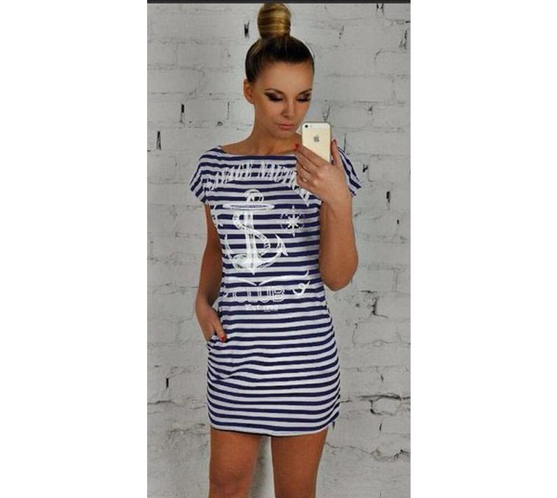"""Сарафан тельняшка """"Savage"""" - Оптово-розничный интернет-магазин модной женской одежды """"LOOKing For"""" в Одессе"""