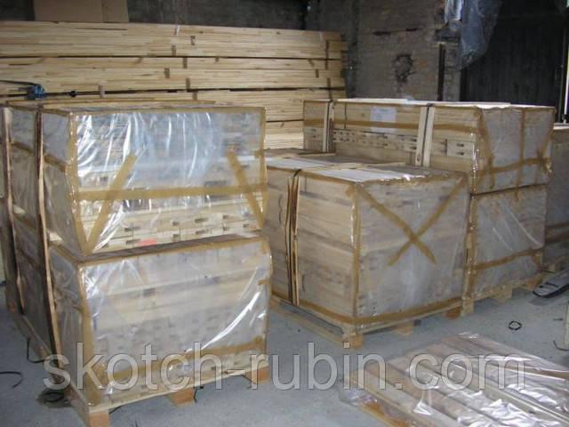 Упаковка деревянного бруса