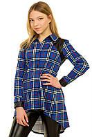 """Рубашка для девочки Tashkan """"Алекса"""" (синяя)"""