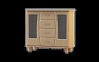 Комод класический, индивидуальный, уникальнейшей гнутые фасады размером 115х48х102 см Нефертити