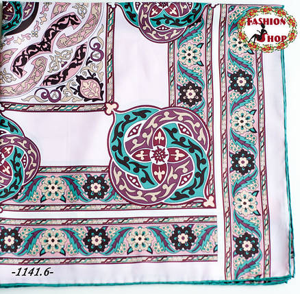 Брендовый шёлковый платок HERMES (реплика), фото 2