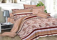 Двуспальное постельное белье София 3Д - Кофейная слабость