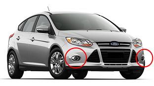 Противотуманные фары Ford Focus c 2011-