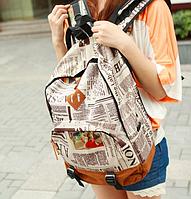 Городской рюкзак с принтом Газета