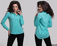 Женская блузочка со стразами