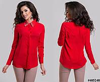 Женская шифоновая блуза со стразами Турция