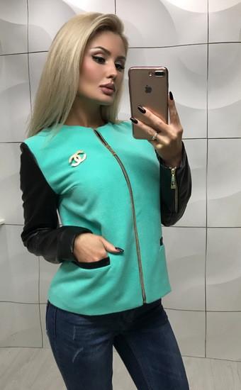 Куртка мята БЕЗ ЗНАЧКА