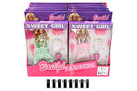 Набор платьев для кукол Barbie в коробке 25*15*2 см. (m+)