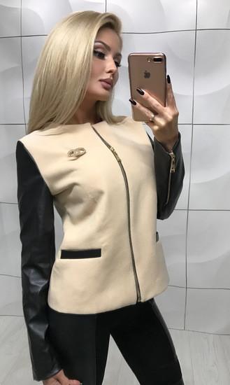 Куртка беж БЕЗ ЗНАЧКА