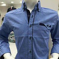 Нарядная с узором подростковая рубашка на мальчиков 6-14 лет Турция