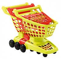 Тележка для супермаркета с подвижной задней стенкой (001220)