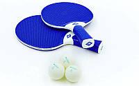 Набор для настольного тенниса 2 ракетки, 3 шарика Donic