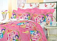 Детское полуторное постельное белье Феи Динь-Динь (Ранфорса)