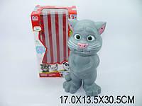 Говорящий Кот игрушка Том, на батарейках, русский, повторюха, в коробке 17х13х30 (m+)