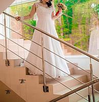 Свадебное платье с корсетом и шифоновым низом в пол