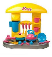 Стол-Детская игрушечная кухня Ева (чайник+сковорода+, ) в коробке