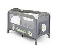 Детская кровать манеж Milly Mally Mirage grey  Польша