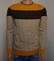 Мужской свитер горчичный Турция 5058