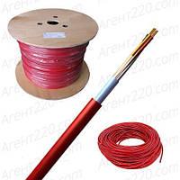 Кабель для пожарной сигнализации J-Y(ST)Y Lg 4x2x0,8, красный
