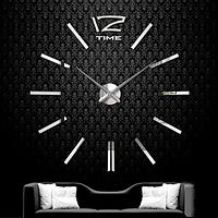Большие настенные часы 100 см Зеркальные Серебро