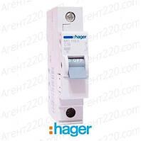 Автоматичеcкий выключатель MC116A 1p 16А hager