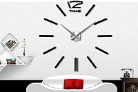 Настенные часы большого диаметра  черные