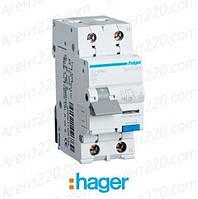 Дифференциальный автомат 1+N 10A/30mA х-ка С, 6кА AD960J hager