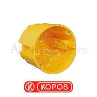 Коробка монтажная углубленная гипсокартон KOPOS KPR68/71L, желтый