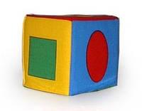 Кубик-погремушка Геом. фигуры (m+)