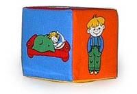 Кубик-погремушка Дети изучают действие (m+)