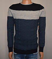 Мужской свитер синий Турция 5057